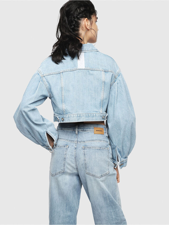 Diesel - DE-PUFFY, Light Blue - Denim Jackets - Image 2