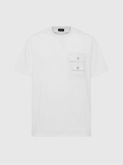 Diesel - T-TASK-SLITS, White - T-Shirts - Image 1