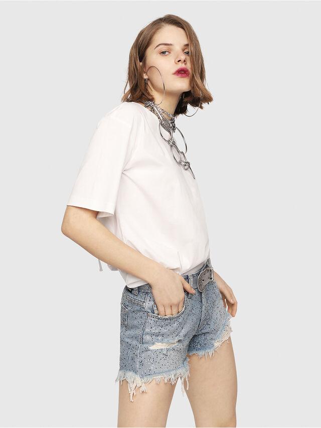 Diesel - DE-RIFTY-S, Blue Jeans - Shorts - Image 3