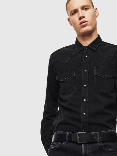 Diesel - D-EAST-P, Black - Denim Shirts - Image 4