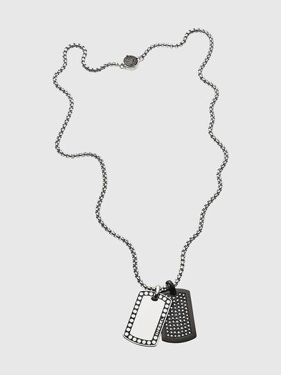 Diesel - DX1169, Silver - Necklaces - Image 1