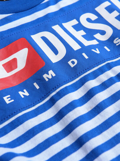 Diesel - TVIKTOR OVER, Blue/White - T-shirts and Tops - Image 3