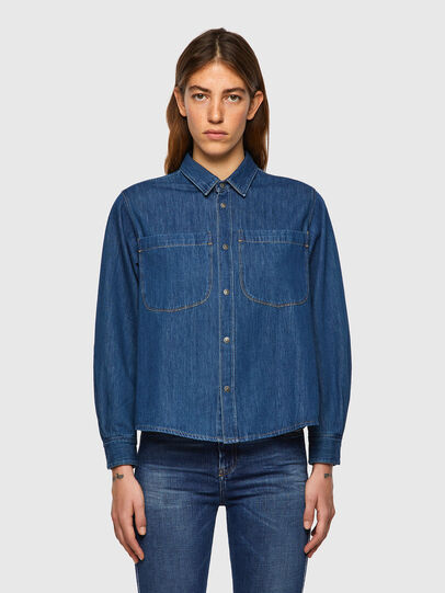 Diesel - DE-BEA-SP, Blue - Denim Shirts - Image 1