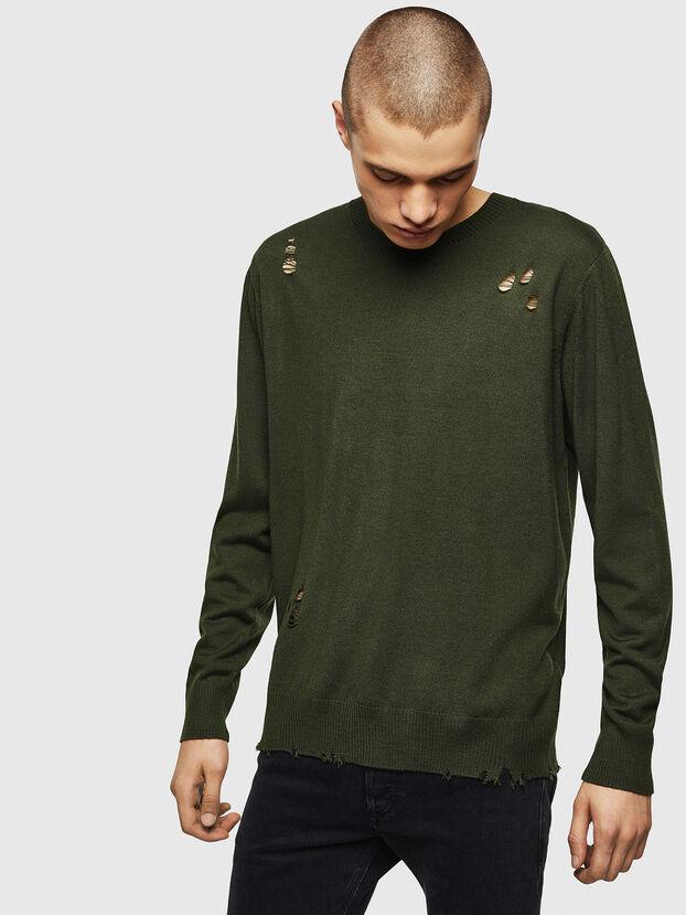 K-PLUG, Dark Green - Knitwear