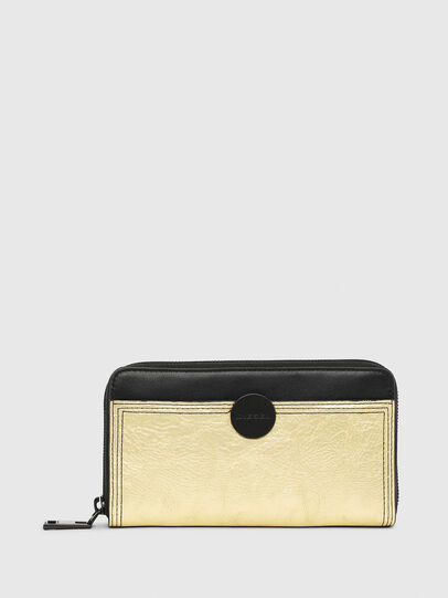 Diesel - GRANATO LC, Gold/Black - Zip-Round Wallets - Image 1
