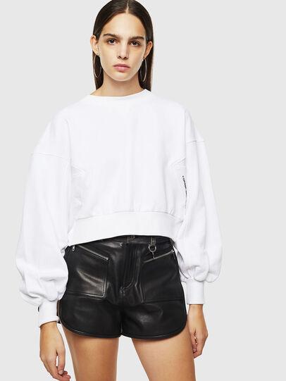 Diesel - F-MONDY, White - Sweaters - Image 1