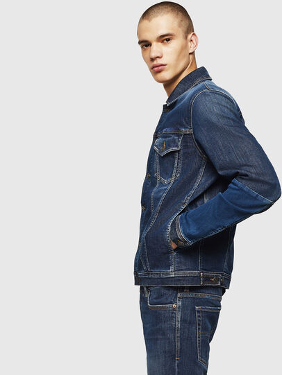 Diesel - D-NHILL-SP JOGGJEANS, Medium blue - Denim Jackets - Image 5