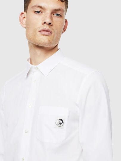 Diesel - S-BILL-POCKET, White - Shirts - Image 3