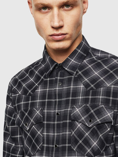 Diesel - S-EAST-LONG-N, Dark grey - Shirts - Image 3
