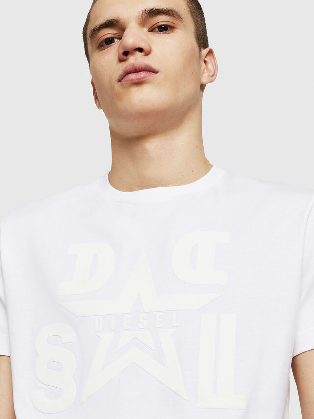 Diesel - T-DIEGO-A8, White - T-Shirts - Image 4
