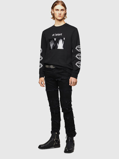 Diesel - SNEILB-X1, Black - Sweaters - Image 6