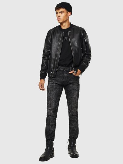 Diesel - L-JOSEPH, Black - Leather jackets - Image 7