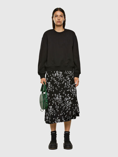 Diesel - O-SPRING-LONG, Black - Skirts - Image 5
