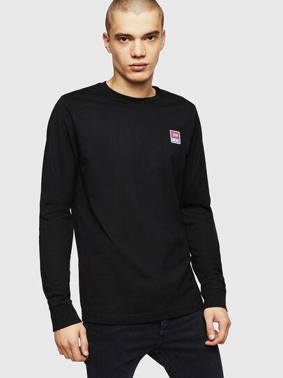 Diesel - T-DIEGO-DIV-LS, Black - T-Shirts - Image 1