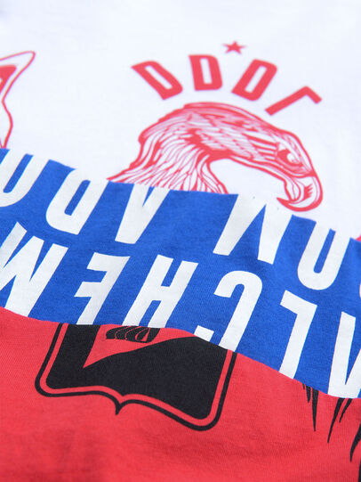 Diesel - TJUSTA1, White/Red/Blu - T-shirts and Tops - Image 3