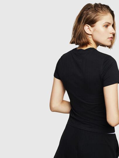 Diesel - UFTEE-ROUNDFEM, Black - T-Shirts - Image 2