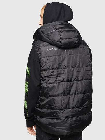 Diesel - W-SUN-REV-SLESS, Black - Winter Jackets - Image 2