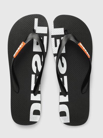 Diesel - SA-BRIIAN, Black/White - Slippers - Image 2