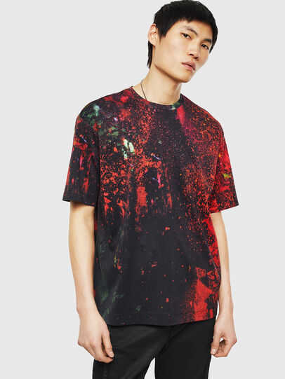 Diesel - TEORIALE-D, Black/Red - T-Shirts - Image 1