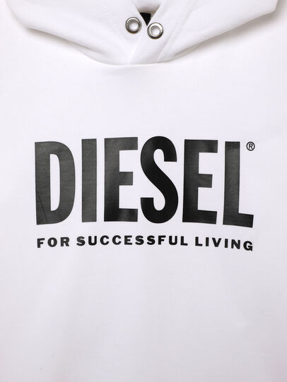 Diesel - SDIVISION-LOGOX OVER, White - Sweaters - Image 3