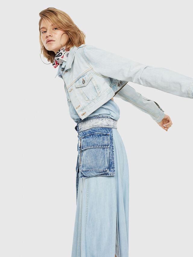 Diesel - DE-ZAUPY, Blue Jeans - Denim Jackets - Image 4
