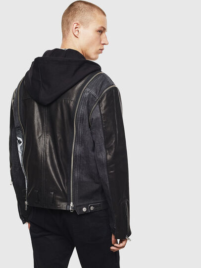 Diesel - D-LOSTY-SY, Black - Leather jackets - Image 2