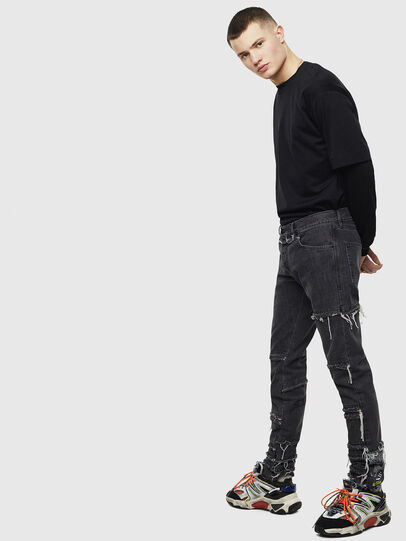 Diesel - D-Kras 009CD, Black/Dark grey - Jeans - Image 7