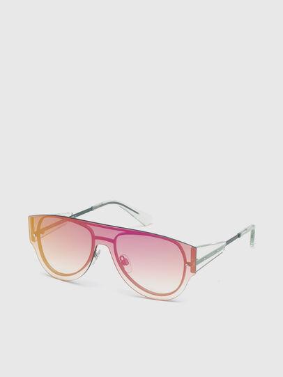 Diesel - DL0273, Pink/White - Sunglasses - Image 2
