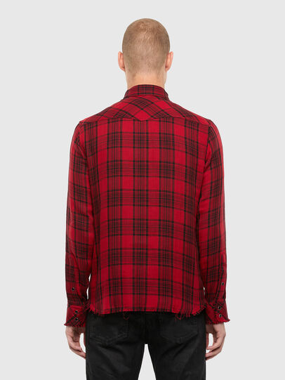 Diesel - S-EAST-LONG-TUB, Black/Red - Shirts - Image 2