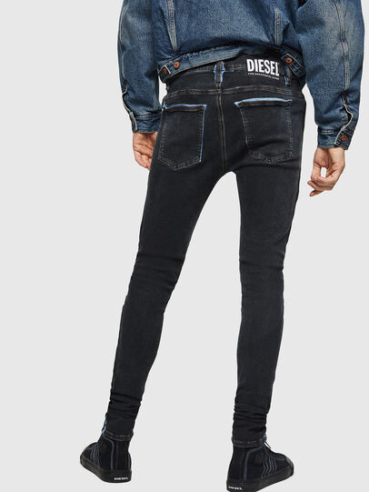 Diesel - D-Istort 0094B, Dark Blue - Jeans - Image 2