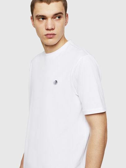 Diesel - T-JUSTY, White - T-Shirts - Image 4