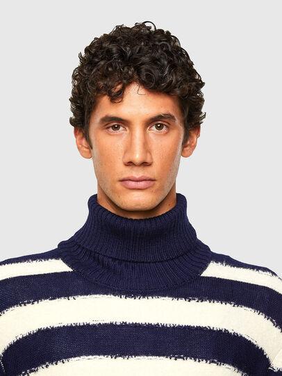 Diesel - K-BRENTON, Blue/White - Knitwear - Image 3