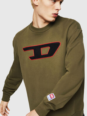 S-CREW-DIVISION-D, Military Green - Sweaters