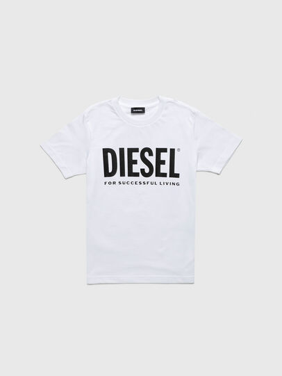 Diesel - TJUSTLOGOB-R, White - T-shirts and Tops - Image 1