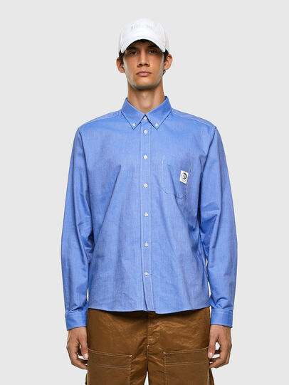 Diesel - S-JAMES, Light Blue - Shirts - Image 4