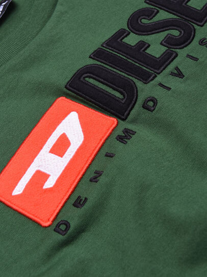 Diesel - TJUSTDIVISION, Bottle Green - T-shirts and Tops - Image 3