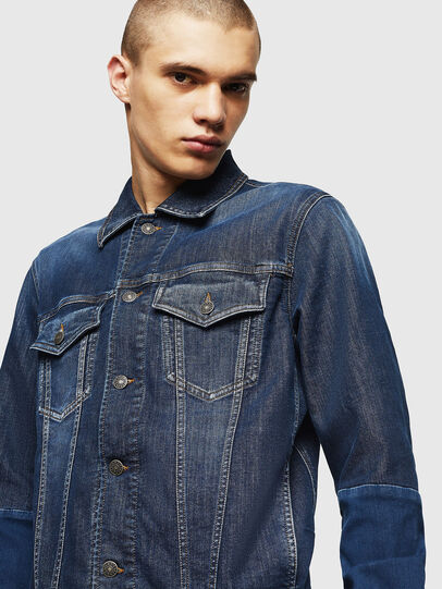 Diesel - D-NHILL-SP JOGGJEANS, Medium blue - Denim Jackets - Image 3