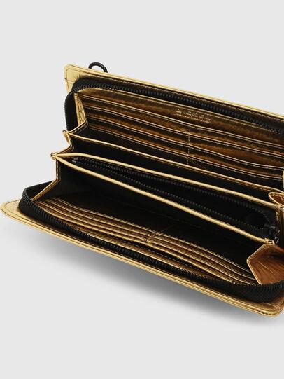 Diesel - GRANATO LCLS, Gold - Zip-Round Wallets - Image 3