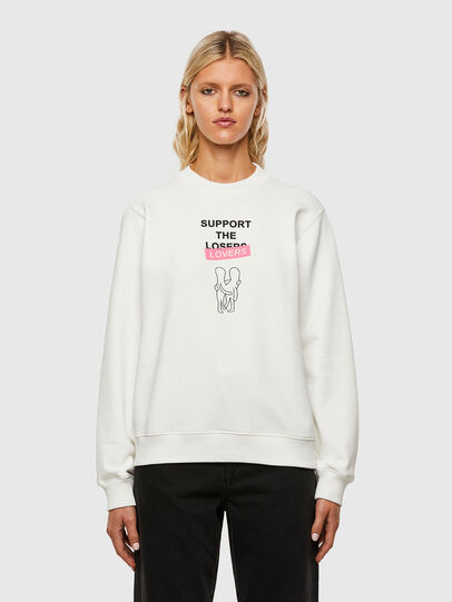 Diesel - F-ANG-R10, White - Sweaters - Image 1