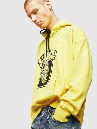 Diesel - S-ALBY-B8, Yellow - Sweaters - Image 4