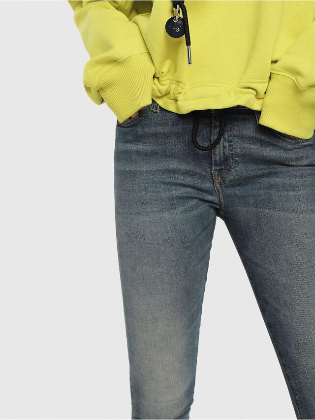 Diesel - Slandy Zip 085AZ, Medium blue - Jeans - Image 3