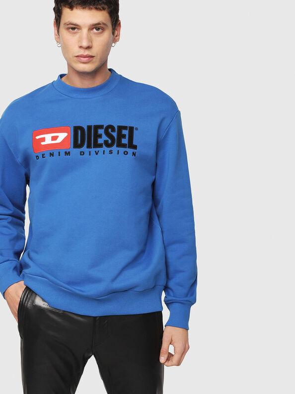 S-CREW-DIVISION, Brilliant Blue - Sweaters