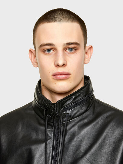 Diesel - L-NAME, Black - Leather jackets - Image 3