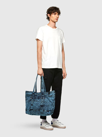 Diesel - D-THISBAG SHOP M, Blue - Shopping and Shoulder Bags - Image 6