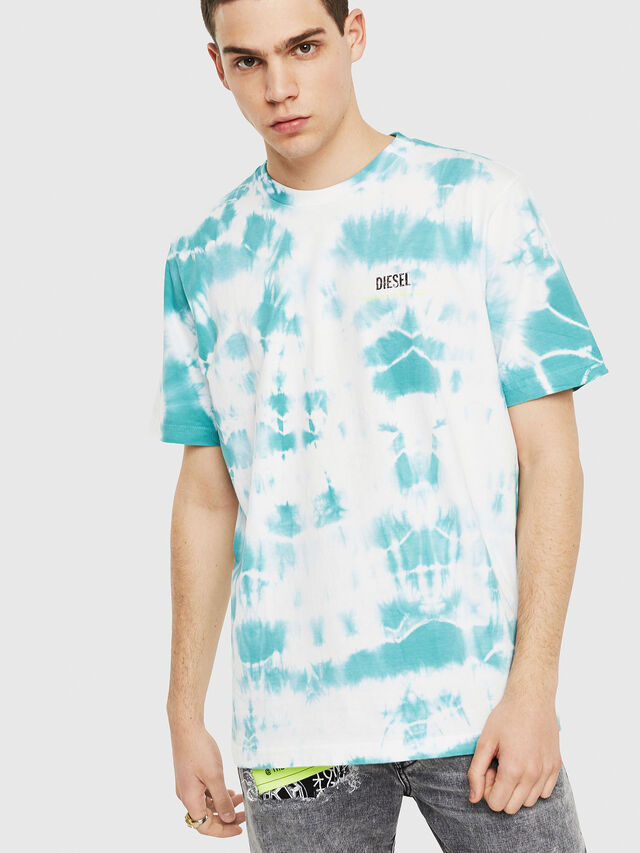 Diesel - DXF-T-JUST-2, White/Blue - T-Shirts - Image 1
