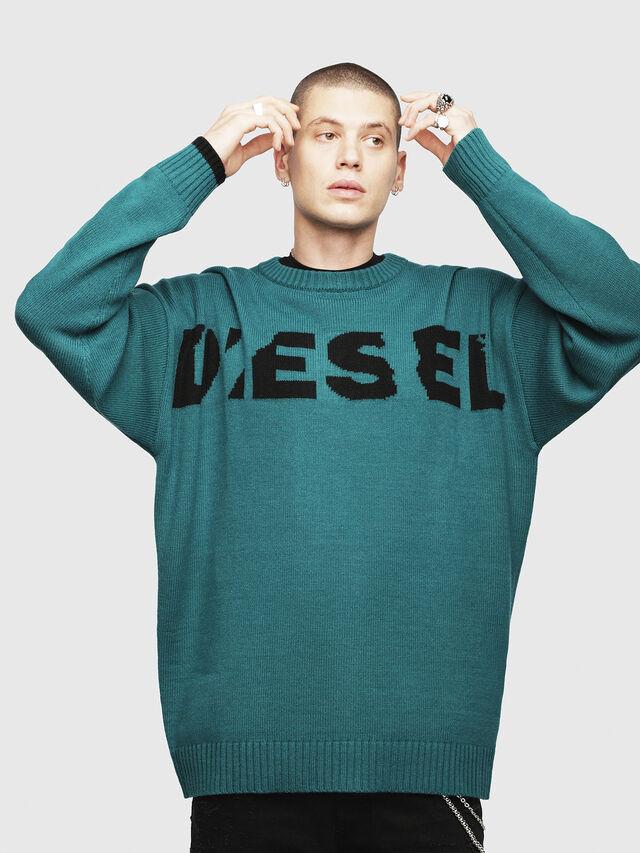 Diesel K-LOGOX, Water Green - Knitwear - Image 1