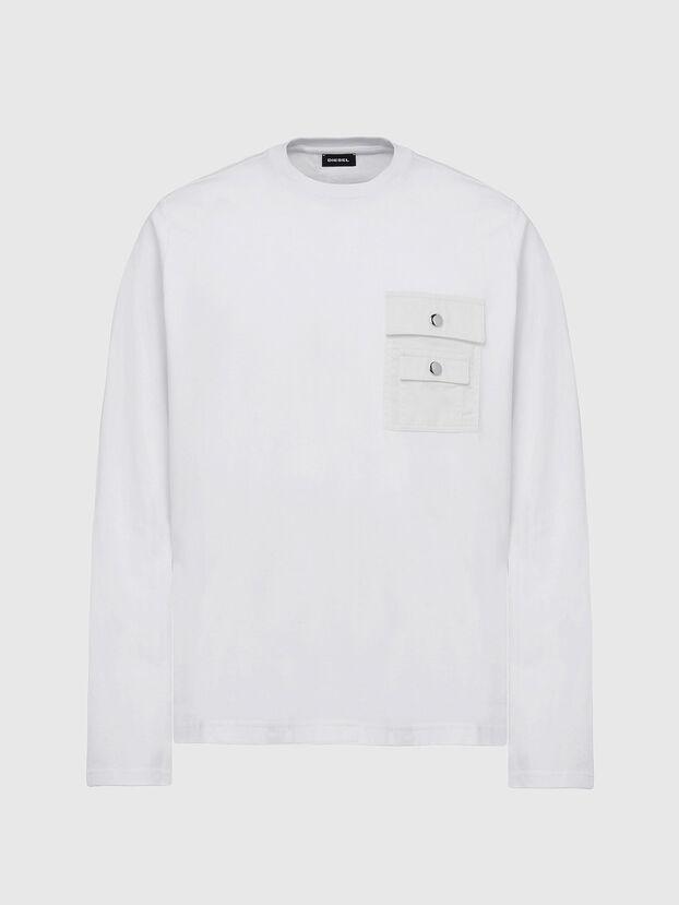 T-TASK-LS, White - T-Shirts