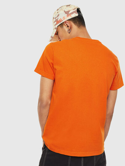 Diesel - T-WORKY-MOHI-S1, Orange - T-Shirts - Image 2