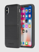 BLACK LINED LEATHER IPHONE X CASE, Black Leather - Cases