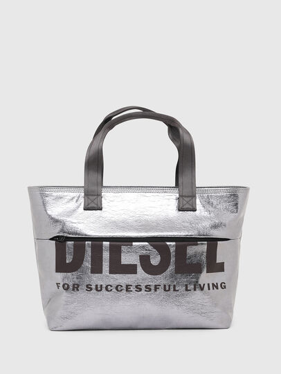 Diesel - F-BOLD SHOPPER III, Silver - Shopping and Shoulder Bags - Image 1